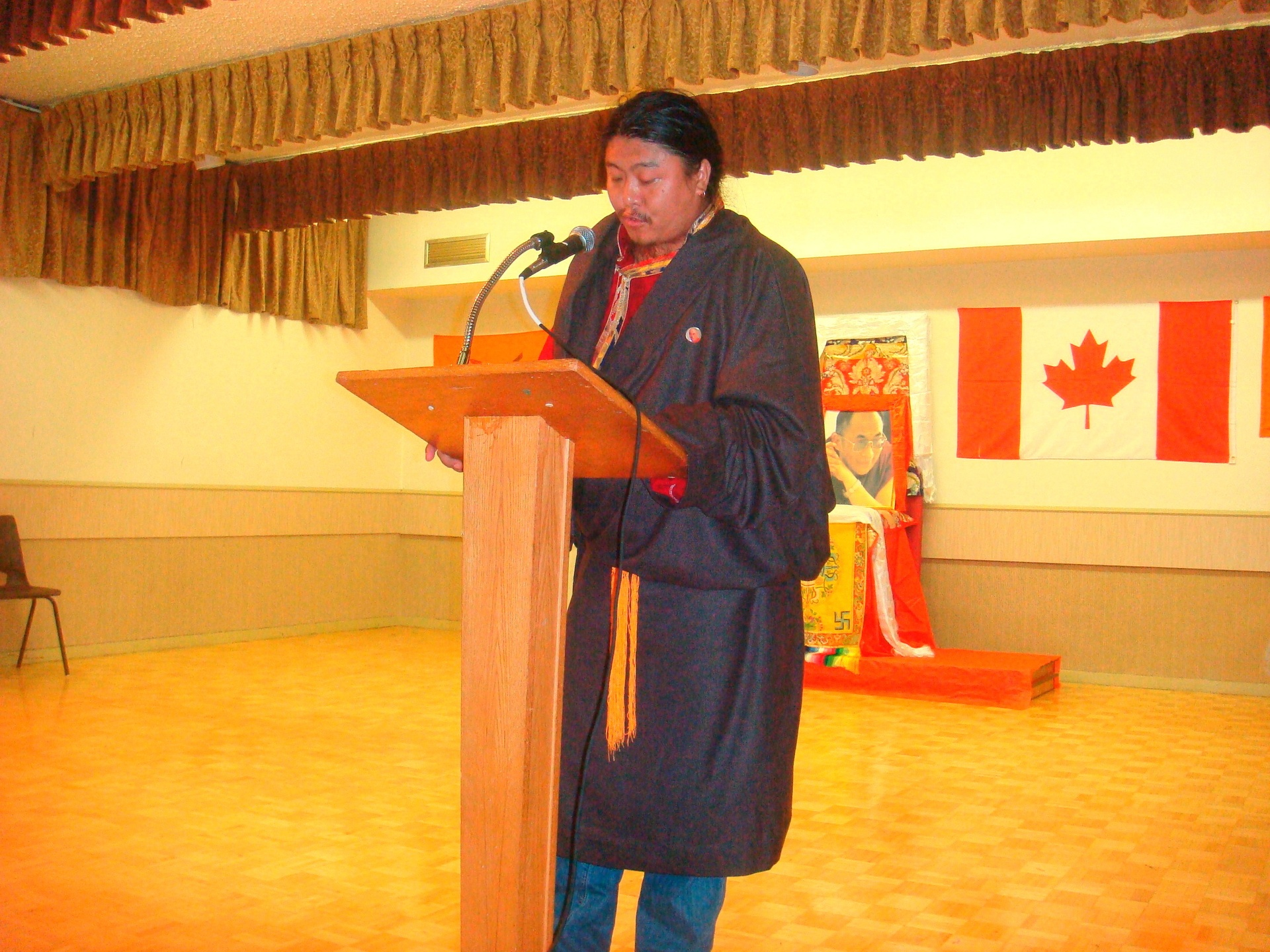 NYC Chugang President Karma Namgyal at Toronto during 52nd Anniversary day